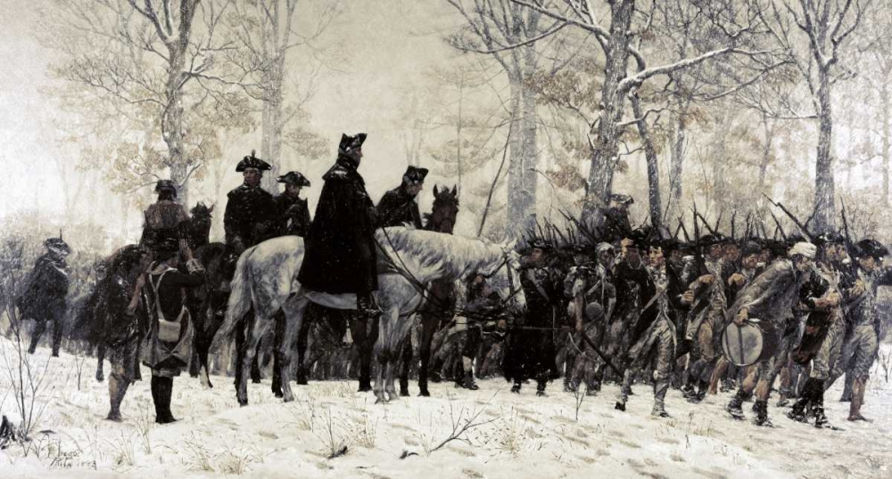 Washington Reviewing His Troops at Valley Forge, 1883 Trego, William T. 91698
