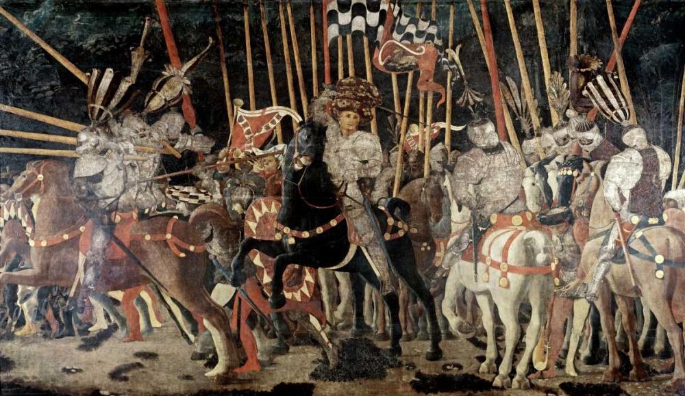 Battle of San Romano: The Counter Attack of Michelotto Da Contignola Uccello, Paolo 91703