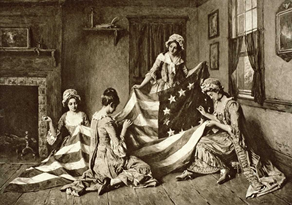 Betsy Ross Sewing the First U.S. Flag Philadelphia, Pennsylvania, 1777 Unknown 91710