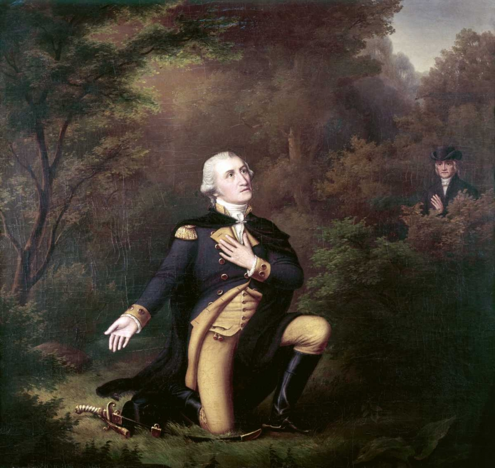 George Washington In Prayer at Valley Forge Weber, Paul 91821