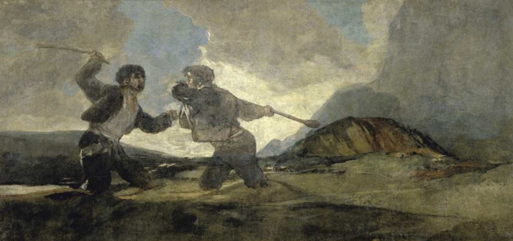 Fight with Cudgels De Goya, Francisco 91957