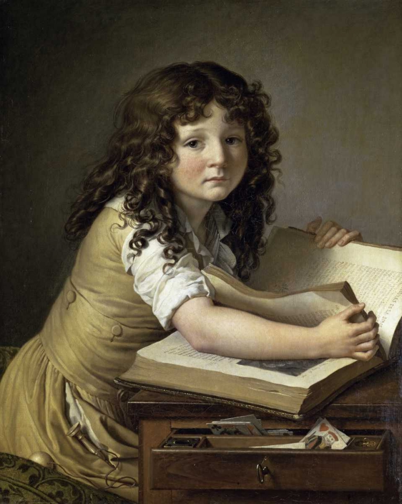 A Young Child Looking at Figures in a Book De Roucy-Trioson, Anne Girodet 91960