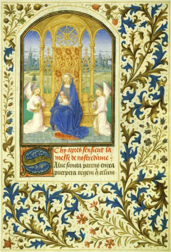 Virgin Enthroned between Angels: Book of Hours - Detail Marmion, Simon 92050