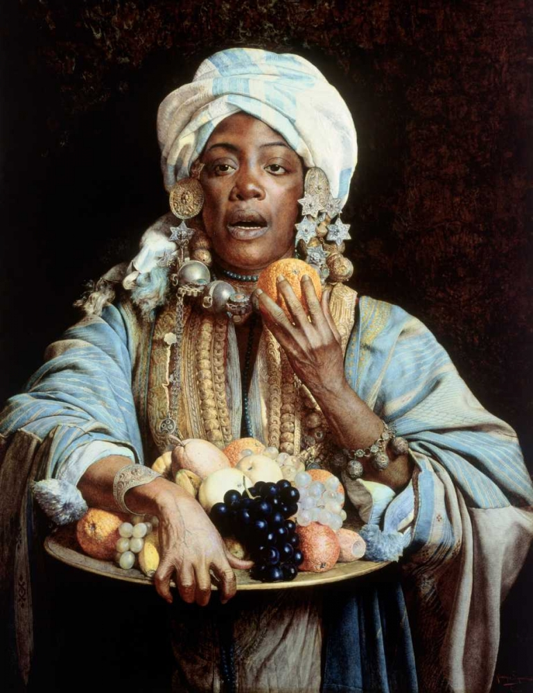 A North African Fruit Vendor Signorini, Giuseppe 92118