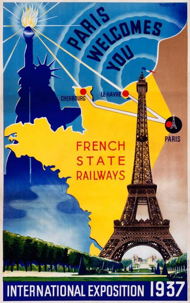 Paris / International Exposition 1937 Lilden 92236