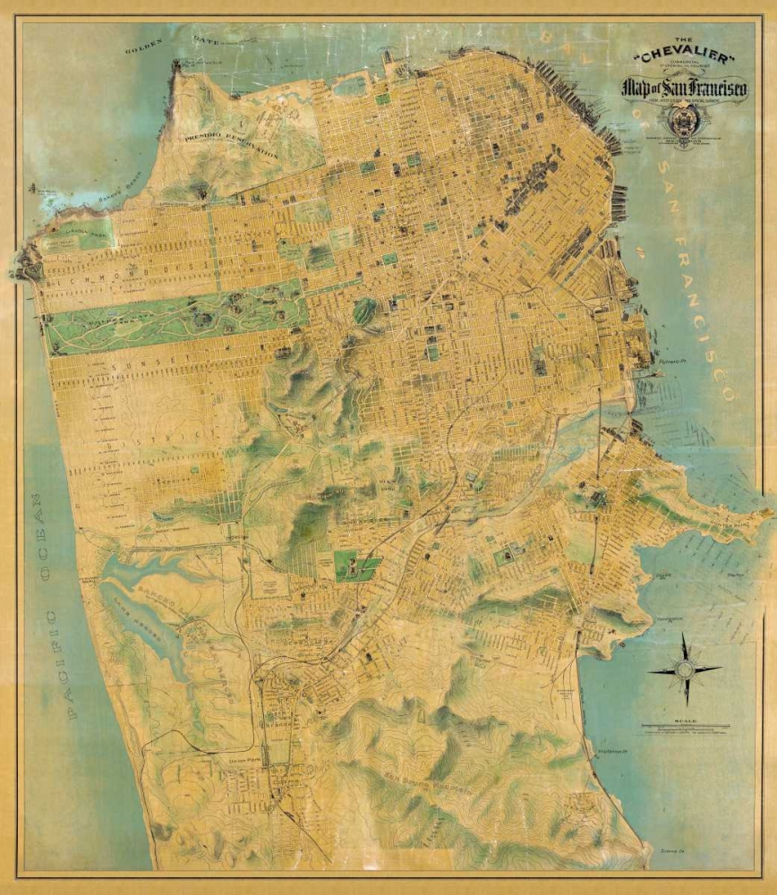 The Chevalier Map of San Francisco Chevalier, August 92286