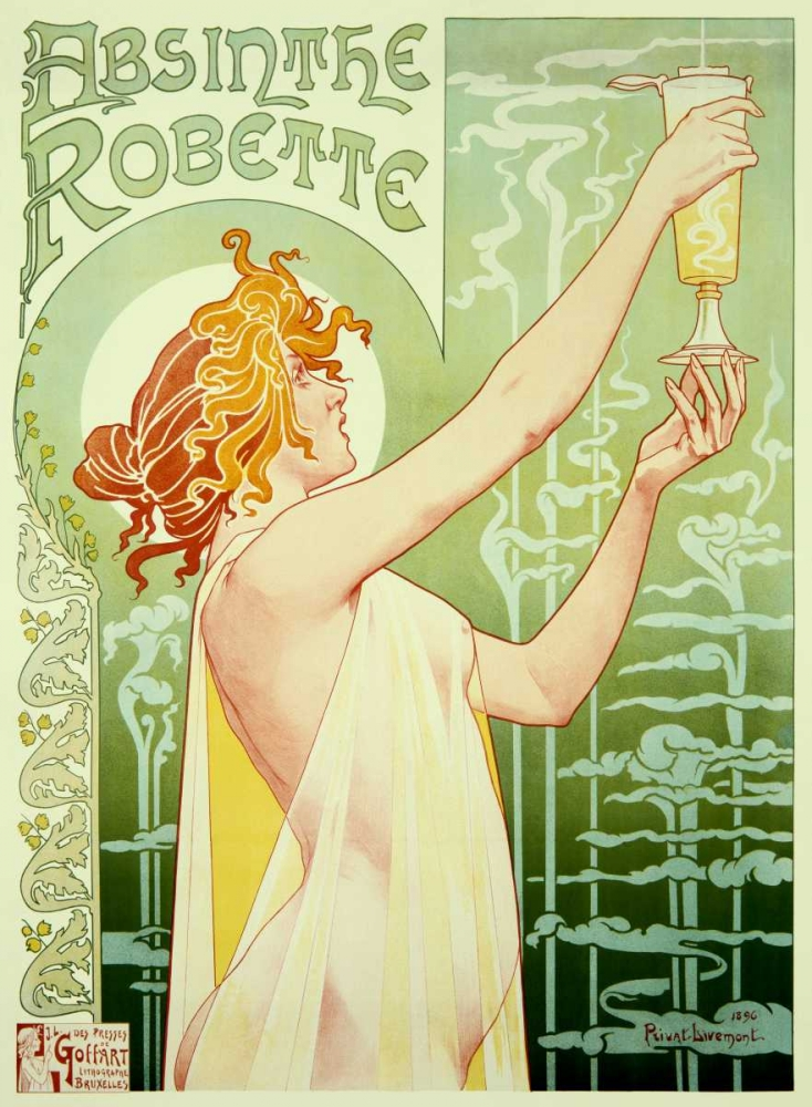 Absinthe Robette Livemont, Privat 92302