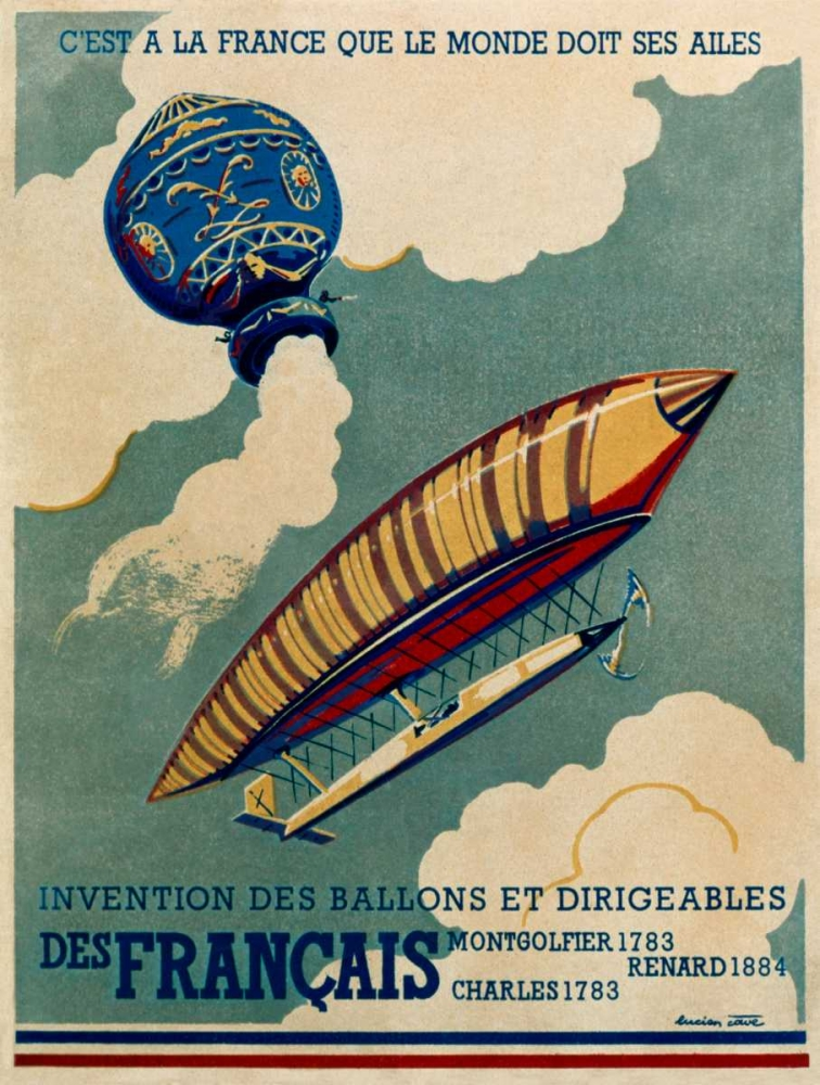 French Aviation: Commemorative Posters 1 of 3 Cave, Lucien 92365