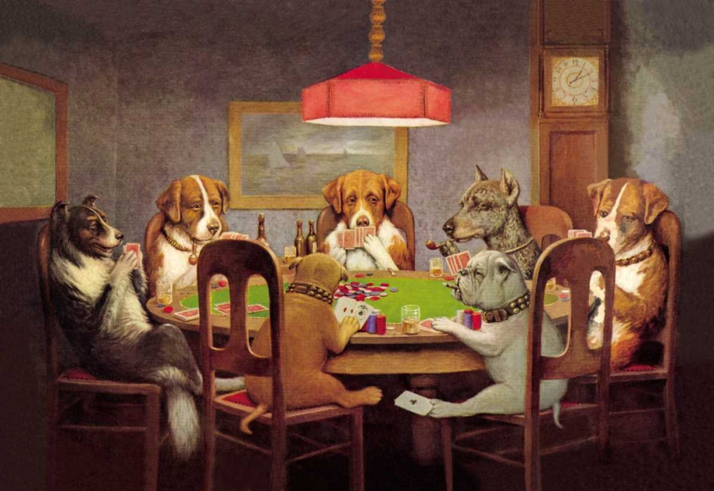 Poker Dogs: A Friend in Need, 1903 Coolidge, C.M. 93550
