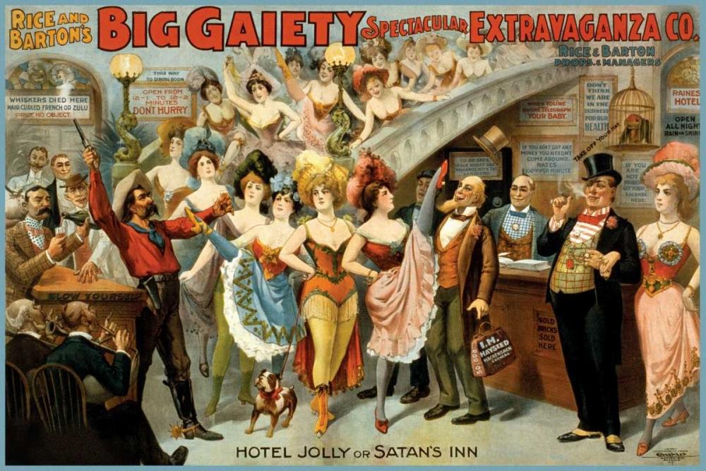 Hotel Jolly or Satans Inn, 1899 Courier Litho Company 93614