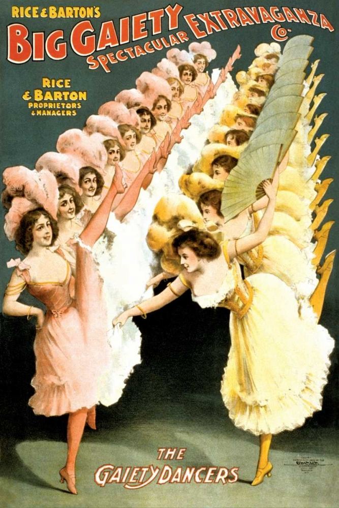 The Gaiety Dancers, 1900 Courier Litho Company 93615