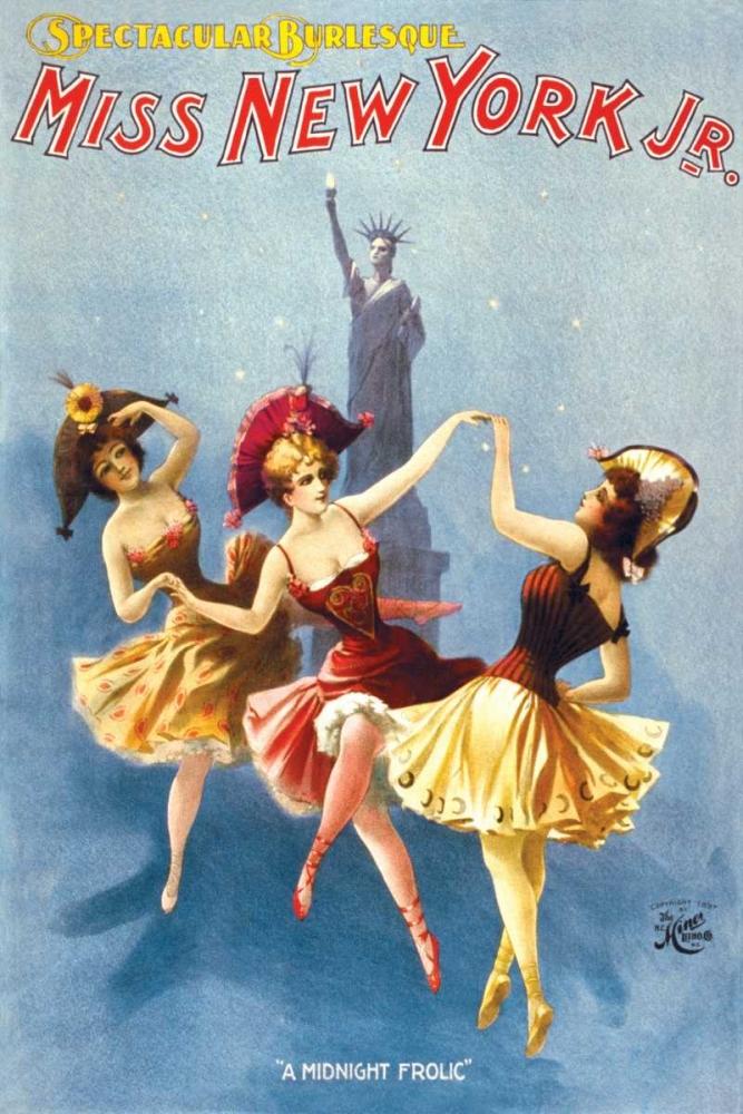 Miss New York Jr. Burlesque, 1897 H.C. Miner Litho Company 93655