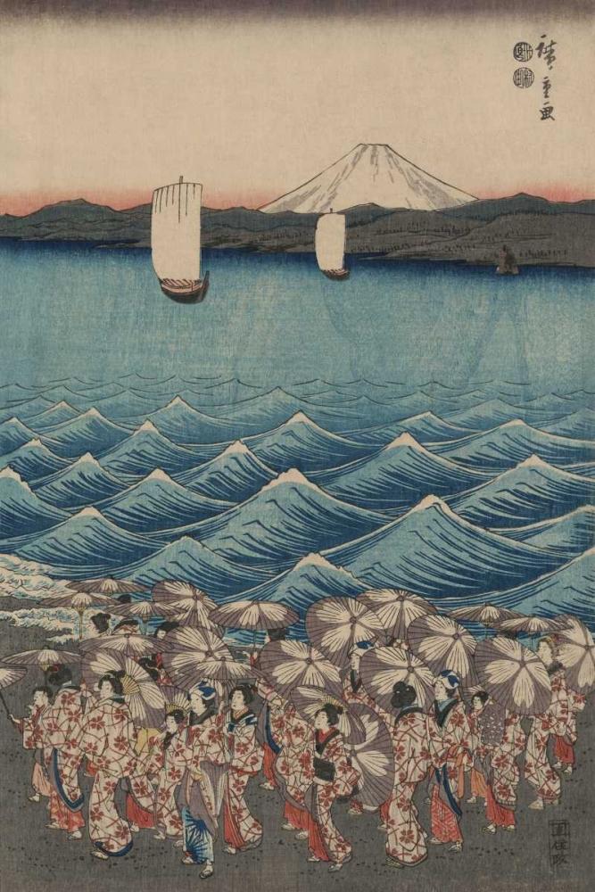 Opening celebration of Benzaiten Shrine at Enoshima in Soshu. Hiroshige, Ando 95973