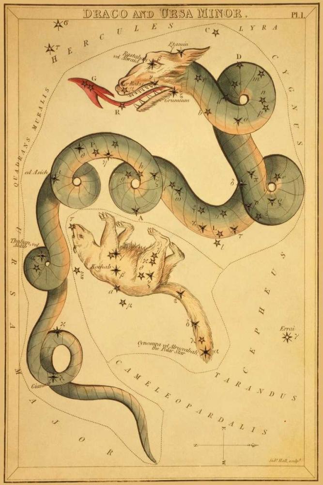 Draco and Ursa Minor, 1825 Aspin, Jehoshaphat 96280
