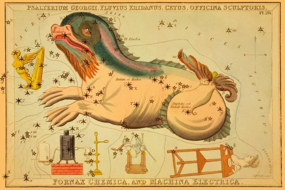 Psalterium Georgii, Fluvius Eridanus, Cetus, Officina Sculptoris, Fornax Chemica, and Machina Electr Aspin, Jehoshaphat 96303