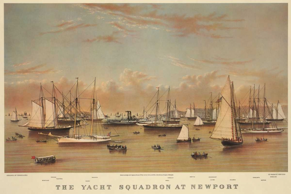 The Yacht squadron at Newport, 1872 Unknown 93894