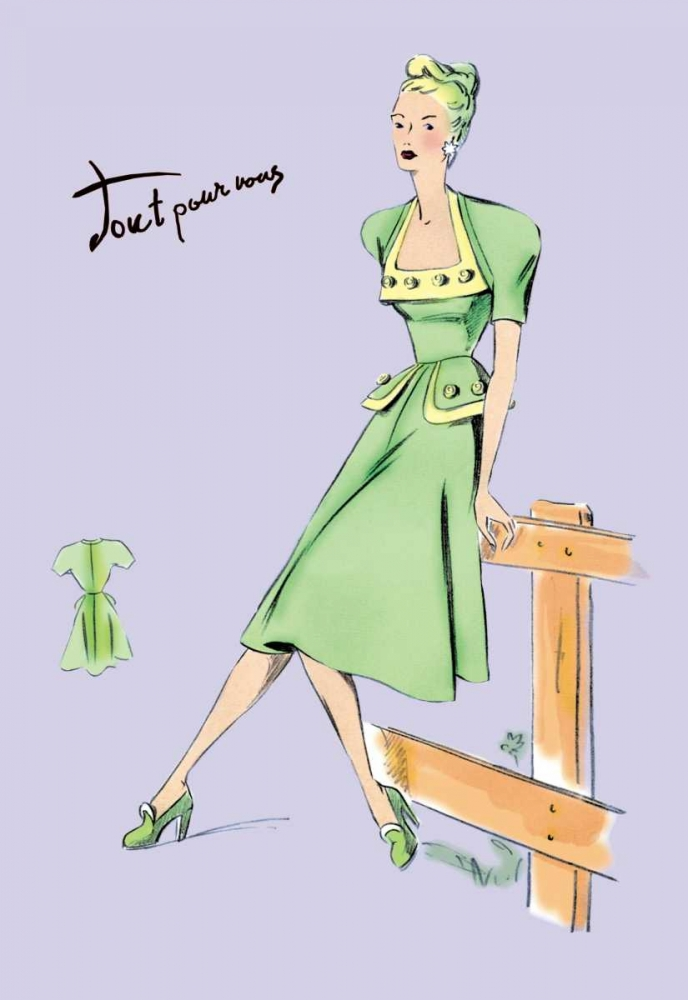 Pastel Summertime Fashion, 1947 Unknown 93953