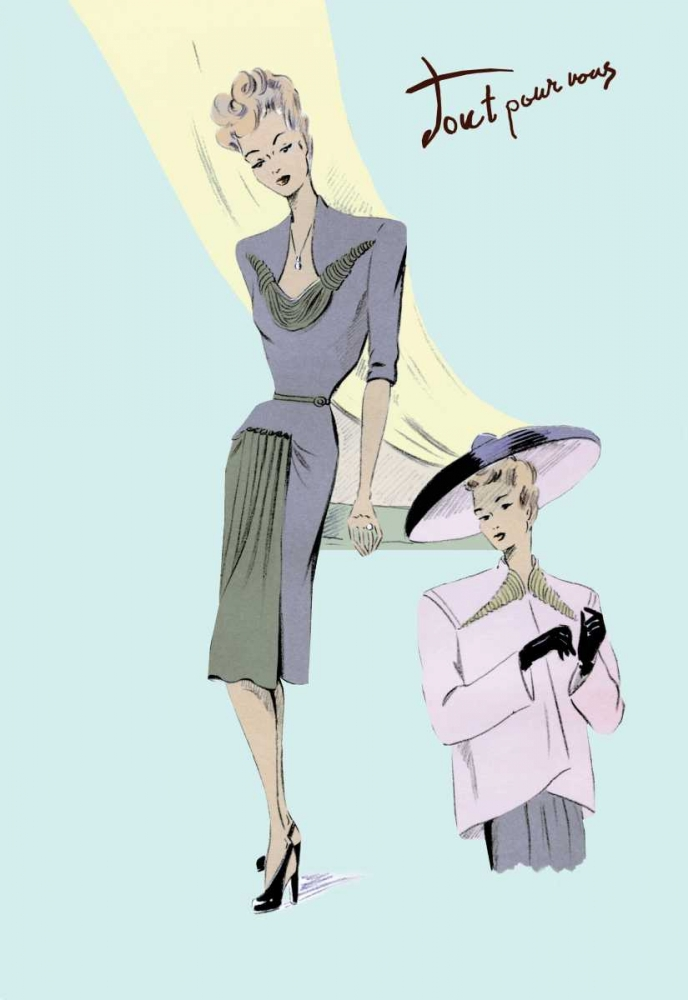 Sophisticated Dress, Hat, and Jacket, 1947 Unknown 93979