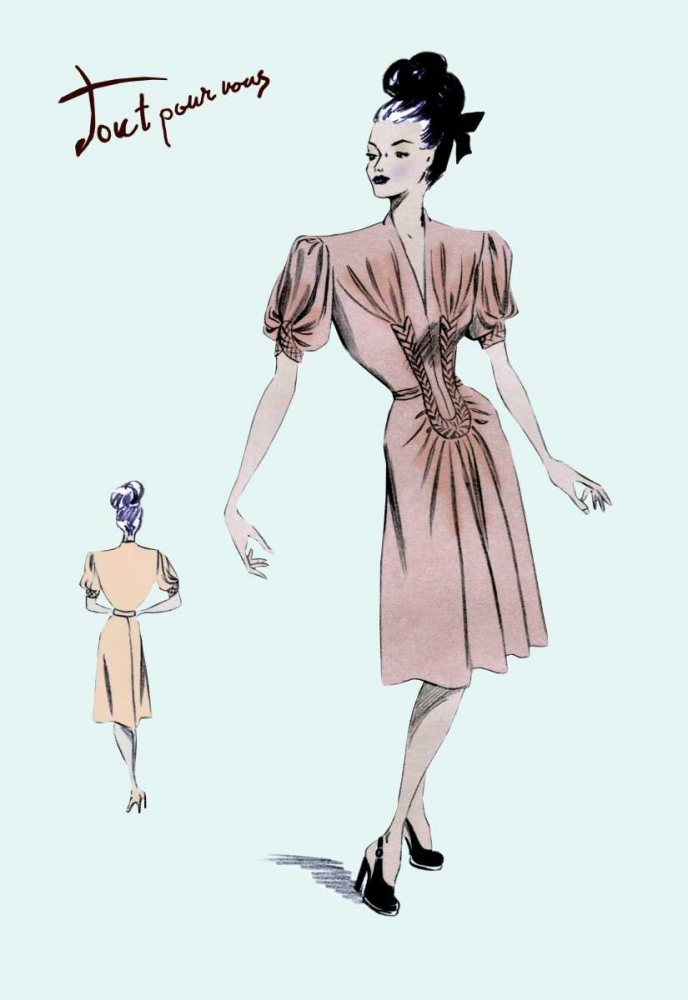 Party Dress with Pleats, 1947 Unknown 93985