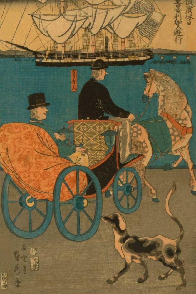Americans enjoying Sunday in Yokohama (Yokohama kyujitsu Amerikajin yuko), 1861 Utagawa, Sadahide 96558