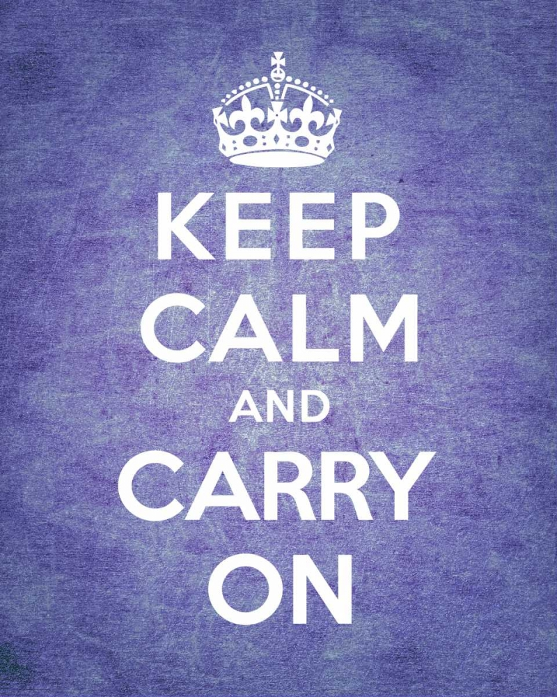 Keep Calm and Carry On - Vintage Purple The British Ministry of Information 92414