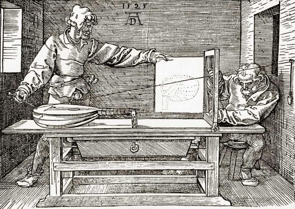 A Man Drawing A Lute Durer, Albrecht 92475
