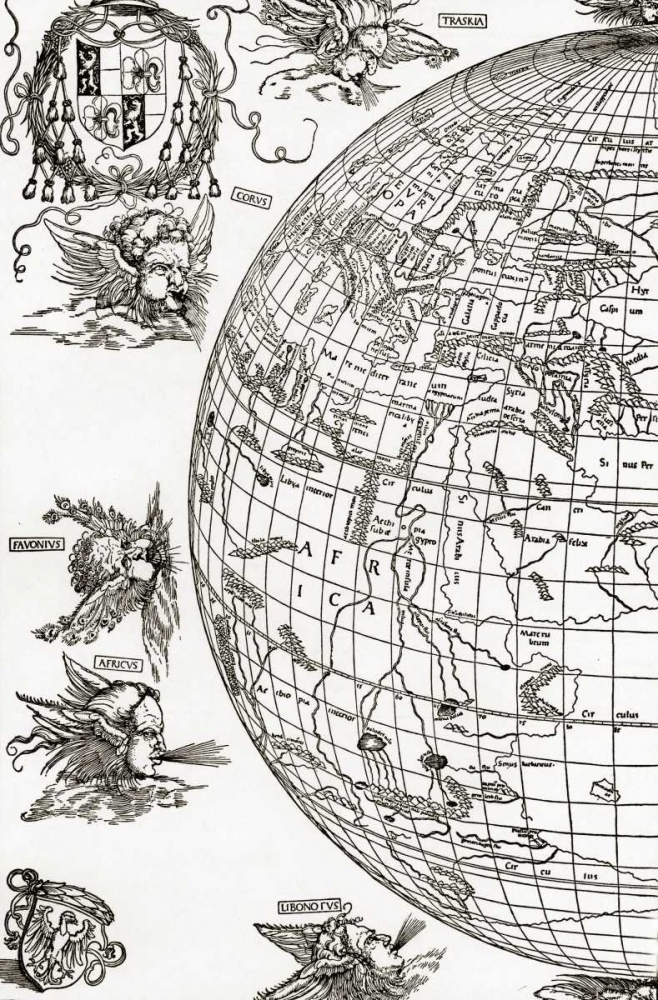 Eastern Hemisphere Of The Terrestial Globe Durer, Albrecht 92476