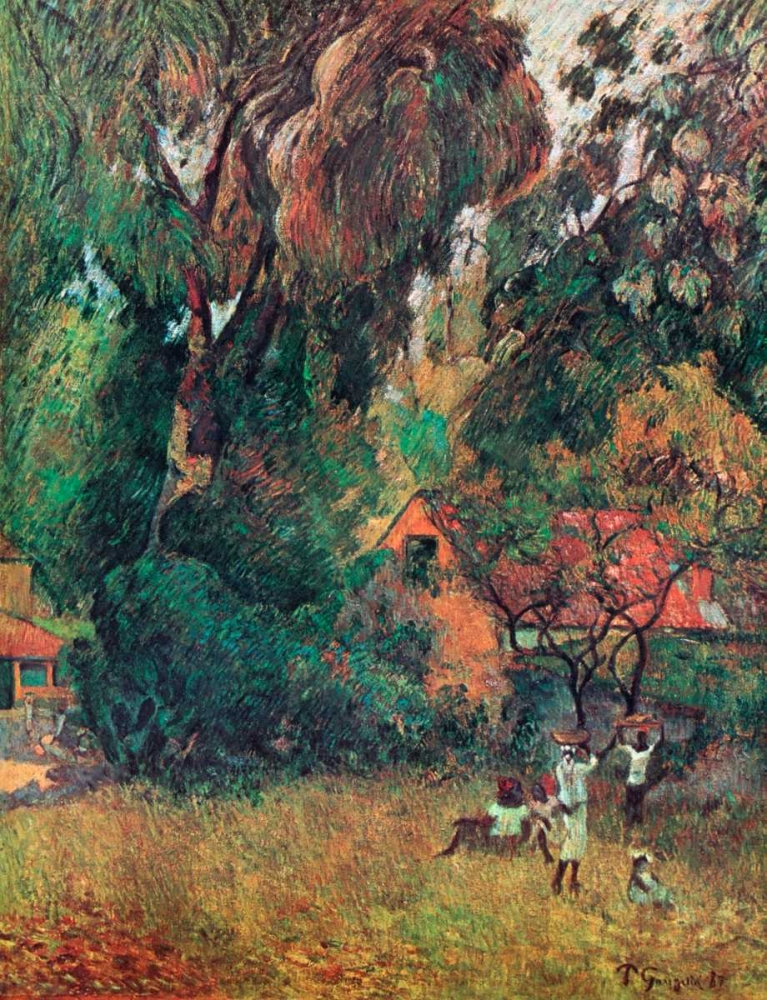 Huts Under The Trees Gauguin, Paul 92508