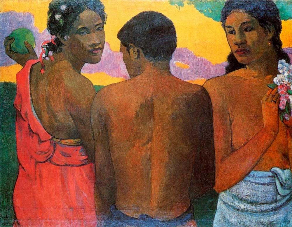 Three Tahitians Gauguin, Paul 92521