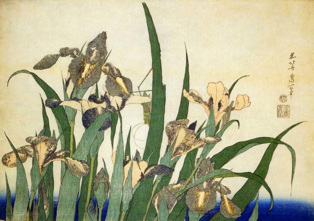 Irises Hokusai 92533
