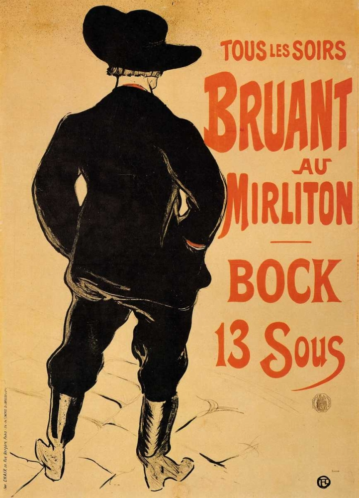 Bruant At The Mirliton Toulouse-Lautrec, Henri 92664