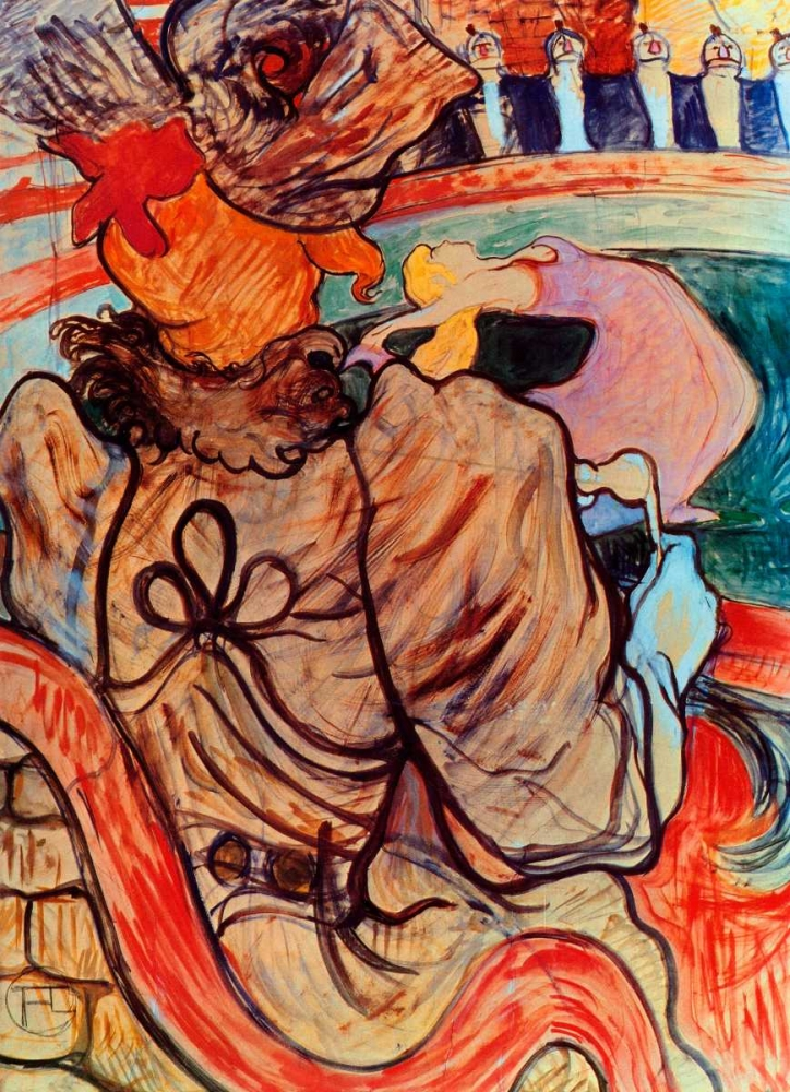 The Dancer And The Five Stuffed Shirts Toulouse-Lautrec, Henri 92670