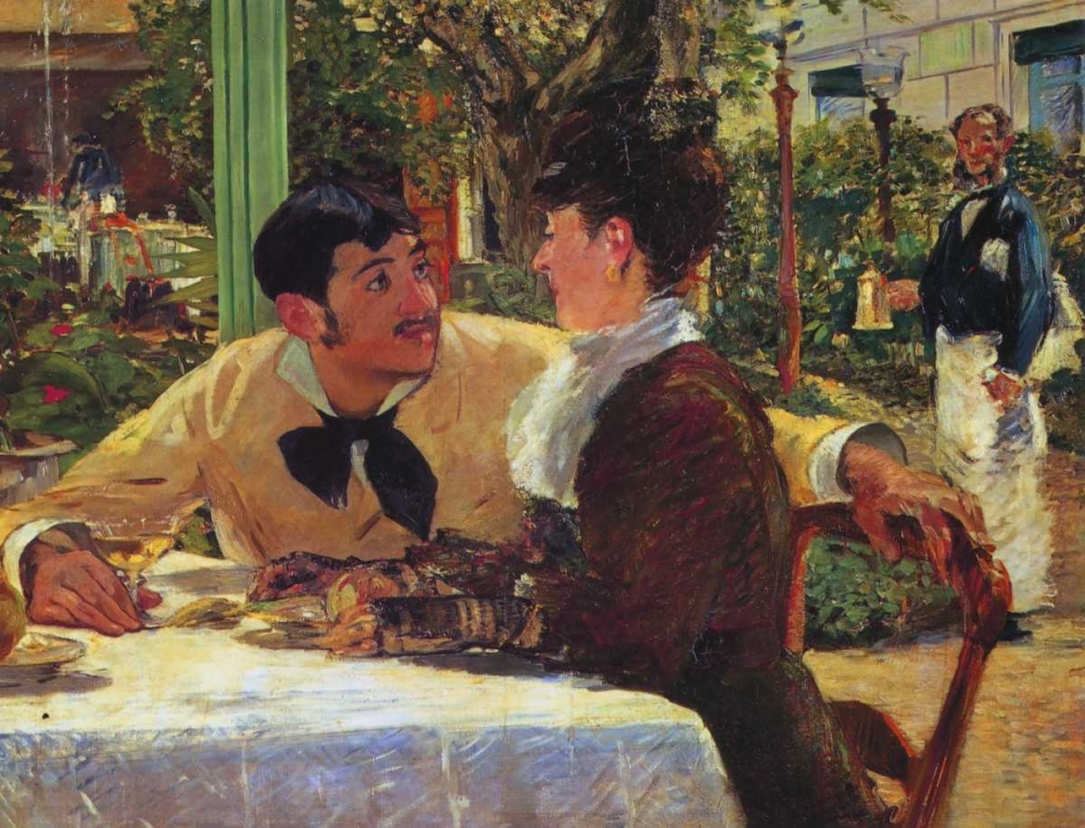Couple at Pere Lathuille Manet, Edouard 92679