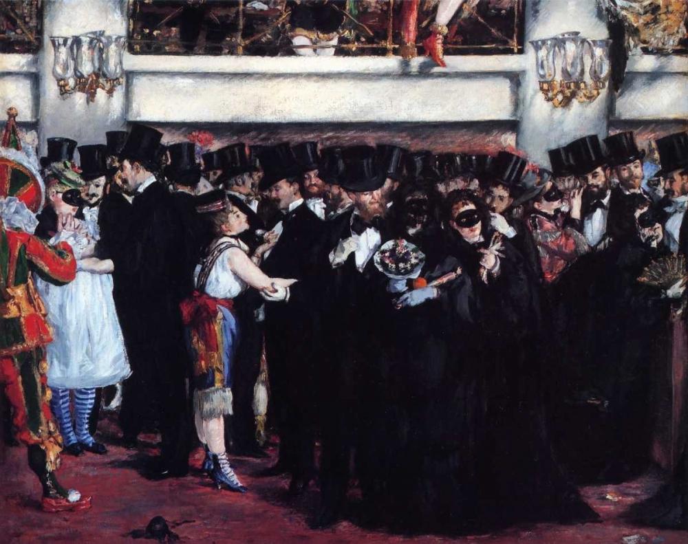 Masked Ball at Opera Manet, Edouard 92682