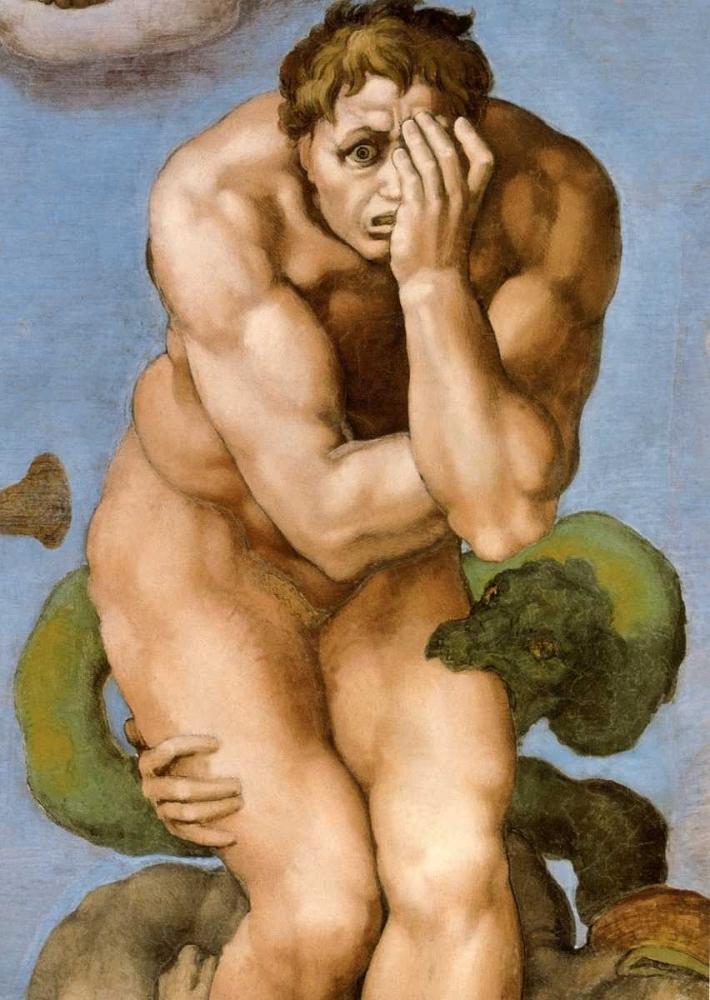 Detail From The Last Judgement 26 Michelangelo 92690