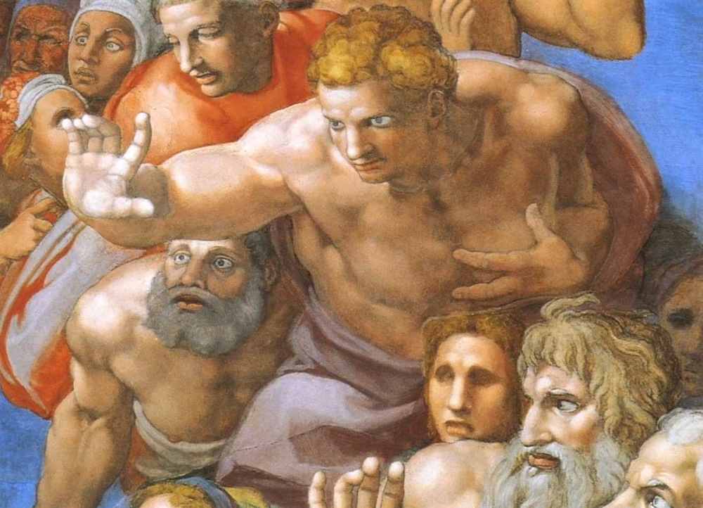 Detail From The Last Judgement - Christ Michelangelo 92692