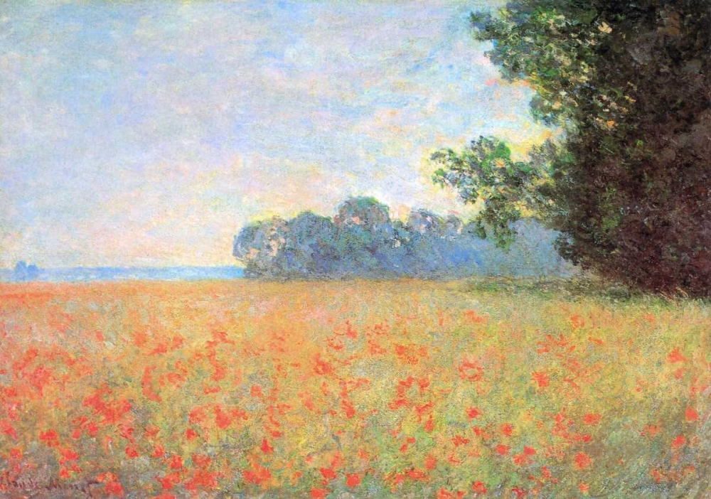 Field Of Oats With Poppies 1890 Monet, Claude 92755