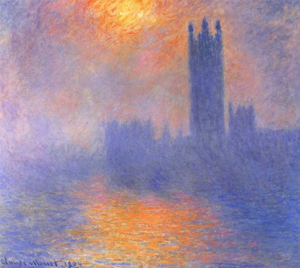 Houses Of Parliment Through The Fog Monet, Claude 92758