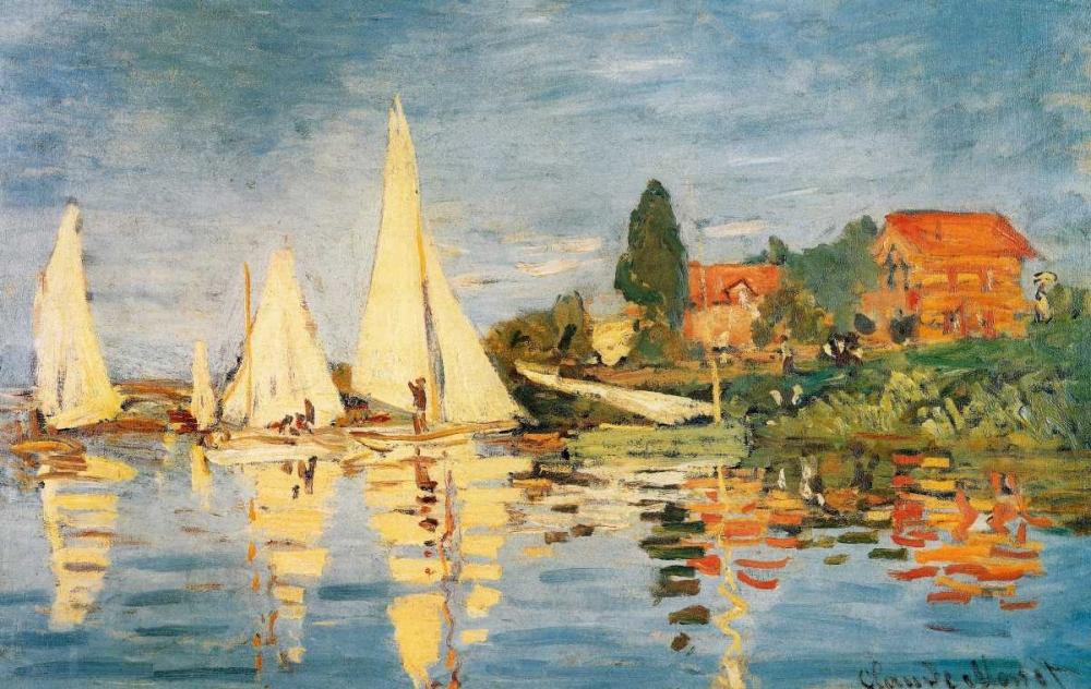 Sailboats At Argenteuil Monet, Claude 92769