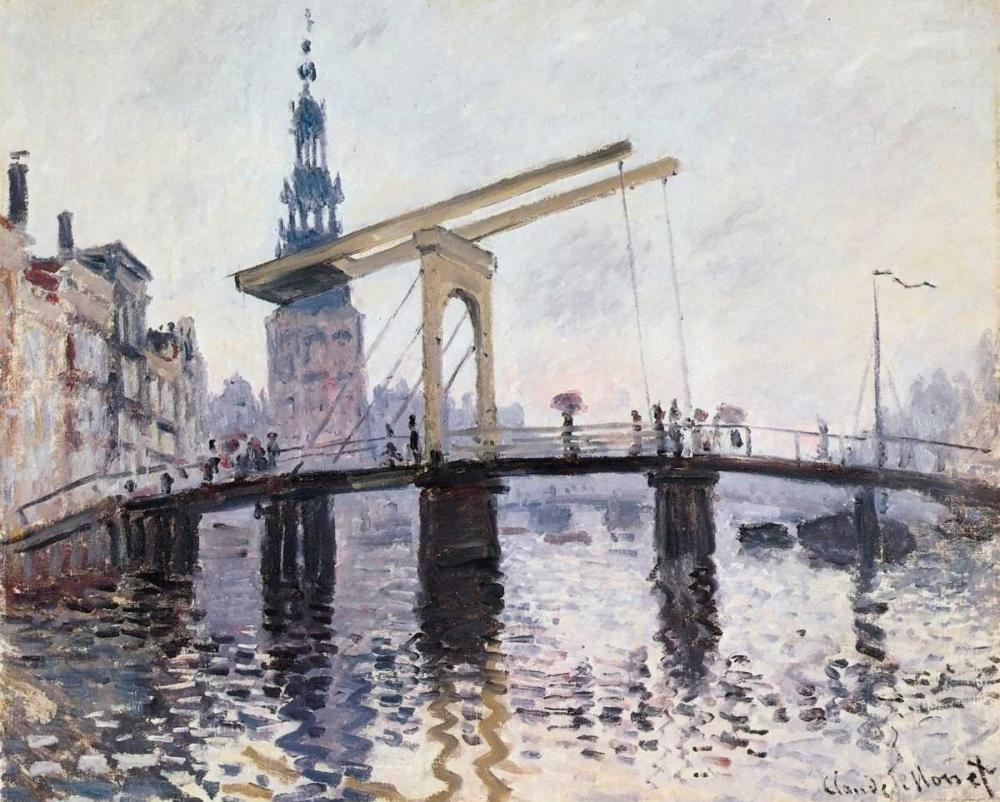 The Drawbridge Amsterdam 1874 Monet, Claude 92776
