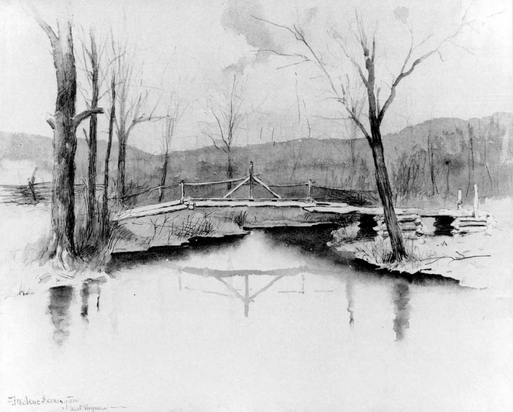 A Foot Bridge West Virginia Remington, Frederic 92819