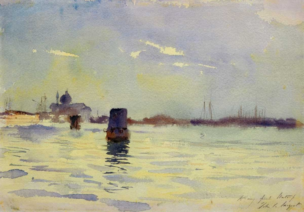 On the Lagoons, Venice, 1880-81 Sargent, John Singer 92874