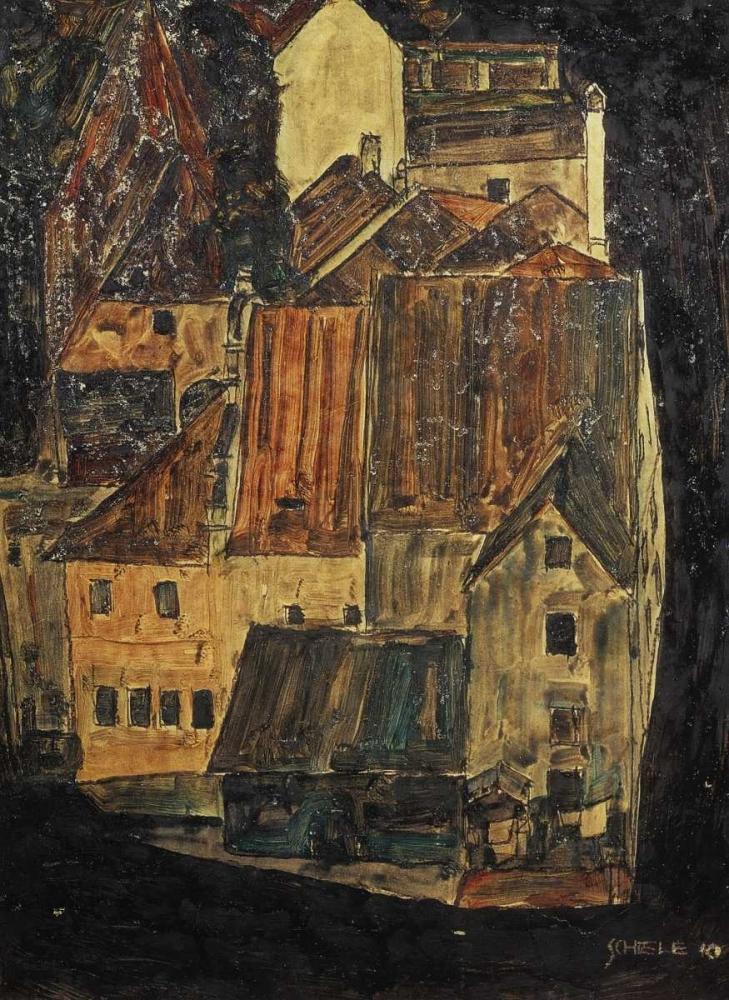 City On The Blue River I 1910 Schiele, Egon 92898