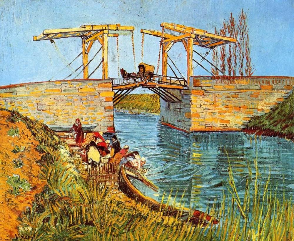 Langlois Bridge Women Washing Van Gogh, Vincent 92932
