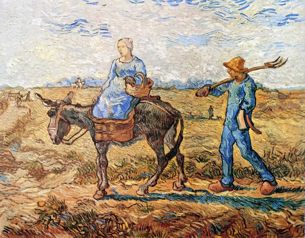 Morning Peasant Couple To Work Van Gogh, Vincent 92938