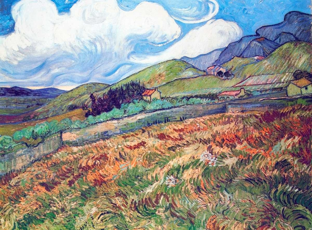 Oat Field With Mountains Van Gogh, Vincent 92940