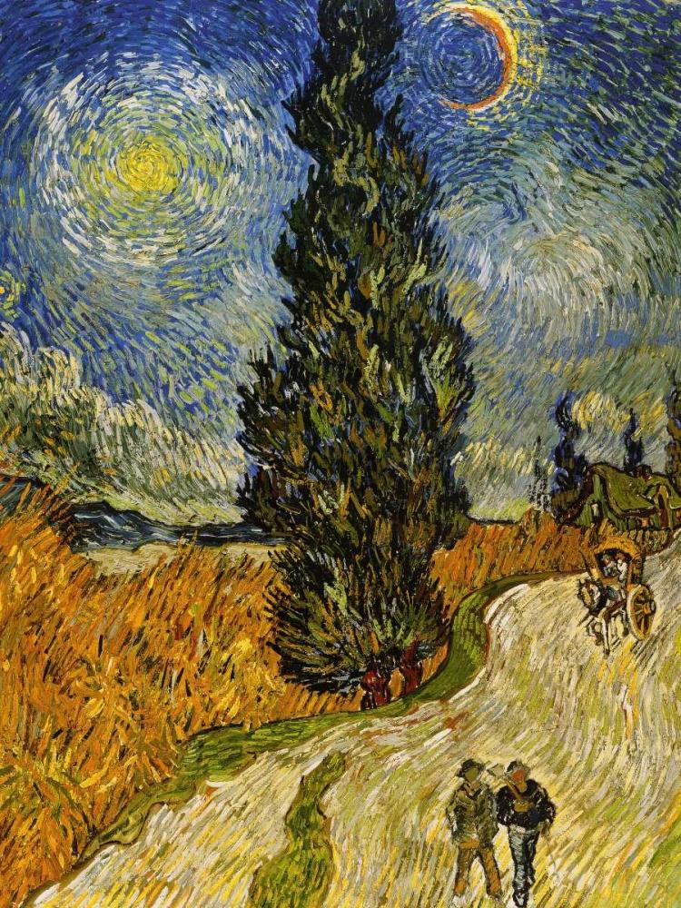 Road Cypress And Star Van Gogh, Vincent 92949