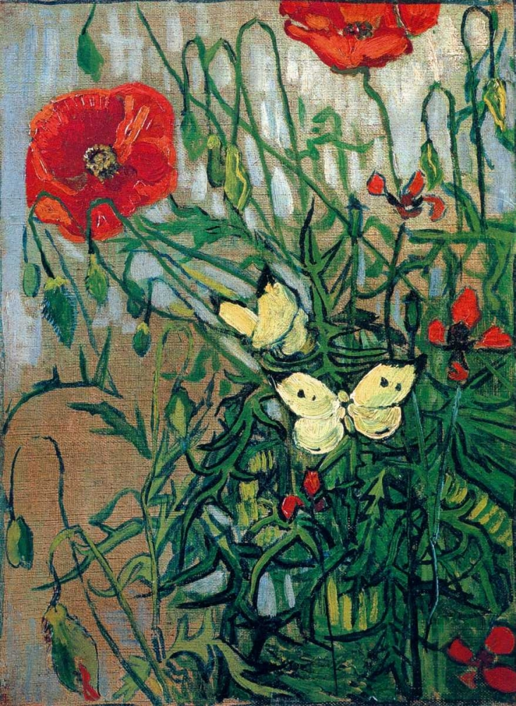 Butterflies And Poppies Van Gogh, Vincent 92983