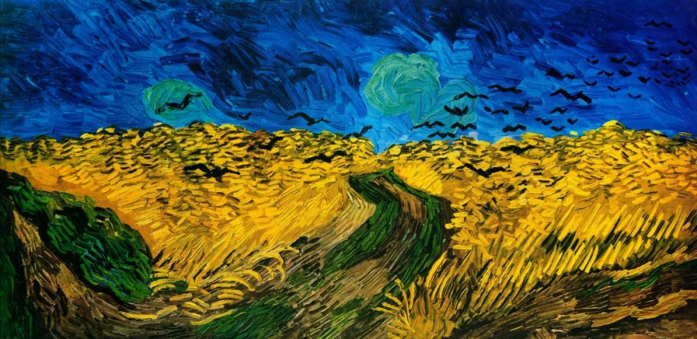 Crows Over Wheat Field Van Gogh, Vincent 92989