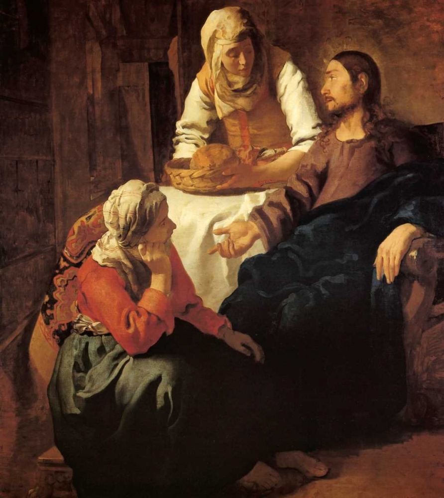 Christ In The House Of Mary And Martha Vermeer, Johannes 92999